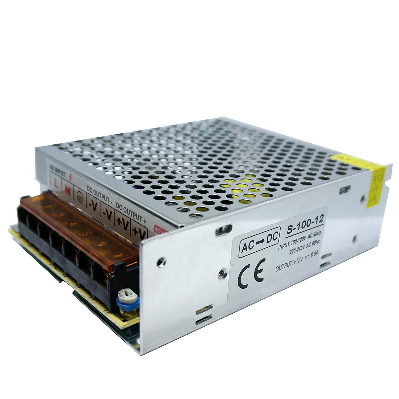 Led Sone DC 5V/12V/24V Universel d'alimentation à découpage régulée Transformateur IP20pour LED Bande lumière CCTV–UK Stock