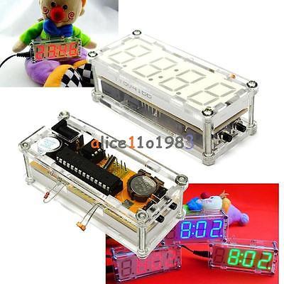 DIY Kit Rouge LED Électronique Horloge Microcontrôleur Numérique Horloge Temps Thermomètre électronique diy kit