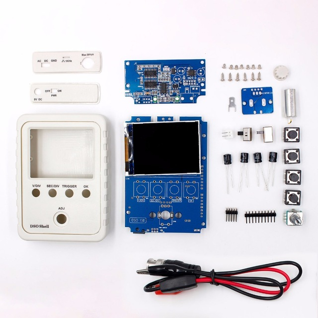 Exclusif!!! Orignal Tech DS0150 15001 K DSO-SHELL (DSO150) bricolage oscilloscope numérique Kit Avec Le cas Du Logement boîte Livraison Gratuite