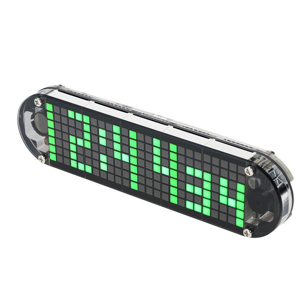 KKmoon Horloge LED Numérique DIY, Module de Minuteurs en Kit Lumière Contrôle, Affichage Automatique de l'Heure Température Date avec Boîtier Transparent
