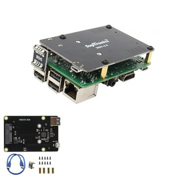 Upgraded Version V3.0 X850 mSATA SSD Storage Expansion Board For Raspberry Pi 3 Model B / 2B / B+