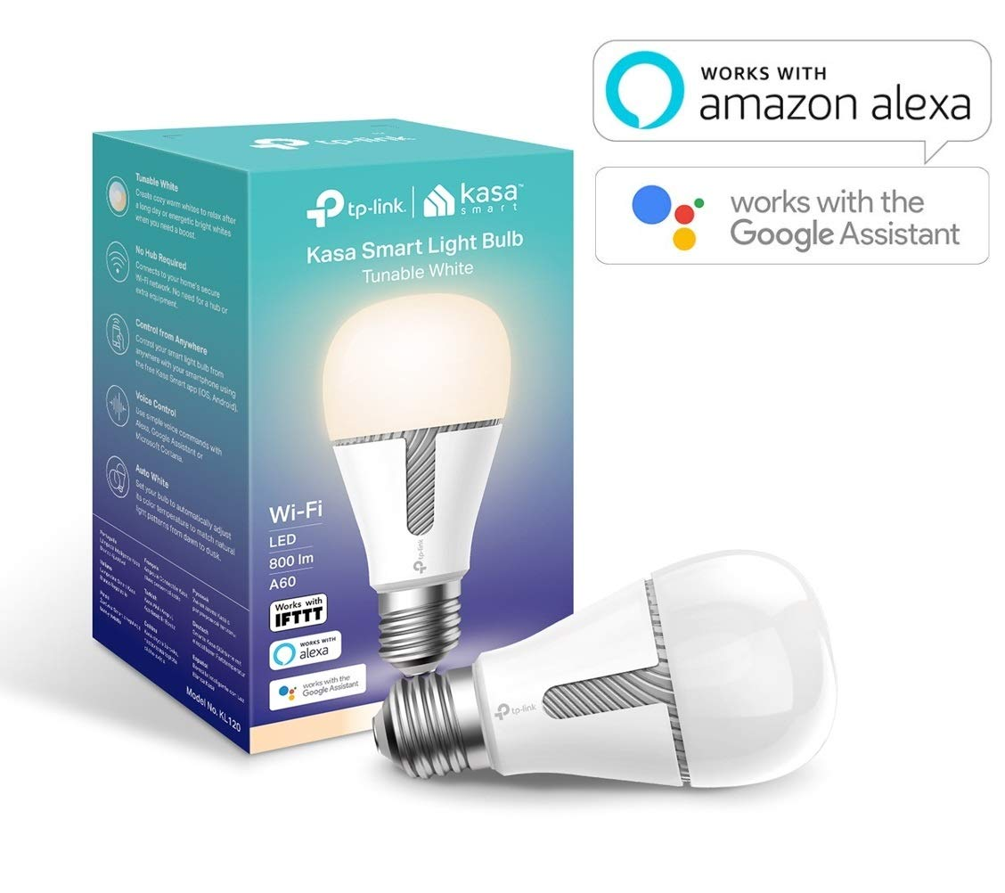 TP-Link KL120 Kasa Smart Ampoule sans Fil E27 10 W Compatible avec Amazon Alexa(Echo et Echo Dot), Google Home et IFTTT Blanc à intensité Variable