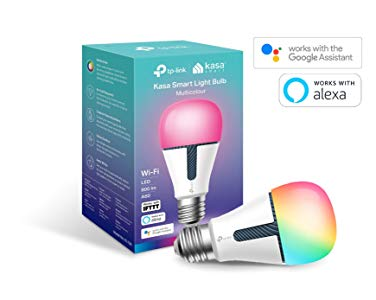TP-Link KL130 Kasa Smart WiFi Ampoule E27 10 W Fonctionne avec Amazon Alexa (Echo et Echo Dot), Google Home et IFTTT, Changement de Couleur, intensité Variable, Pas de concentrateur