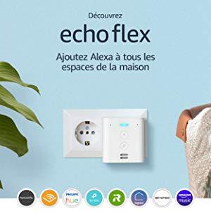 Découvrez Echo Flex, Enceinte connectée avec prise intégrée et Alexa
