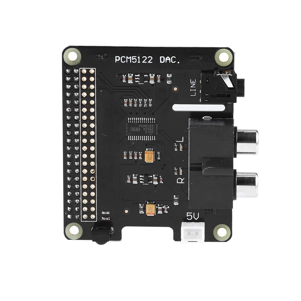Eboxer Carte d'extension Raspberry Pi HiFi DAC+ HD Audio PCM5122 24 Bits pour Raspberry Pi 3, modèle B / 2B / B + / A + / Raspberry Pi Zero W