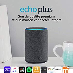 Echo Plus (2ème génération), Son de qualité premium avec un hub maison connectée intégré, Tissu anthracite