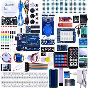 Elegoo Carte Starter Kit de Démarrage Ultime avec manuel d'utilisation Français Le Plus complet pour Débutants et Professionnels Diy compatible avec Arduino IDE