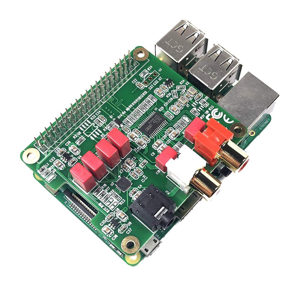 HiFi DAC Hat PCM5122 Carte d'extension de Carte Son Module Audio pour Raspberry Pi 3B