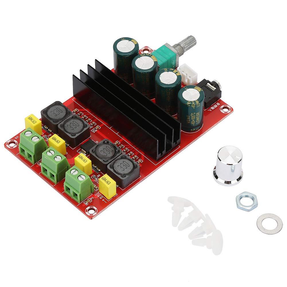 Hilitand DC12-24V Carte Amplificateur Haute Puissance 2*100W Module de Double Canal Récepteur Audio Amplificateur Numérique Board, Conseil Ampli Stéréo