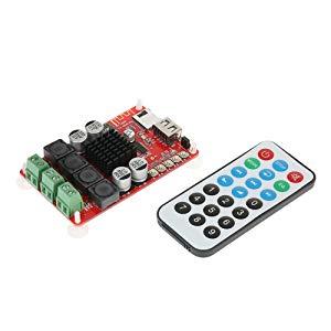 KKmoon TPA3116 DC 8V-26V | 2*50W BT 4.0 | USB & TF Carte Interface, Module de Récepteur Audio Amplificateur Numérique sans Fil Board, avec Télécommande
