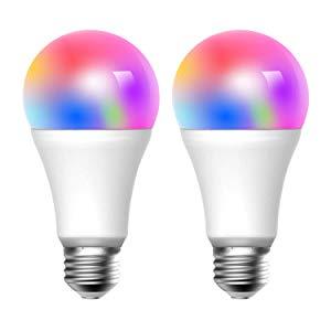 Meross Ampoule WiFi, 2 Pièces LED E27 Ampoule Intelligente Compatible avec Alexa, Google Home et IFTTT, 2700K-6500K Ampoule avec 16 Millions de Couleurs Dimmable et 9W Équivalent à 60W