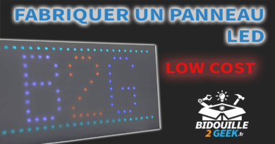 panneau led diy low cost