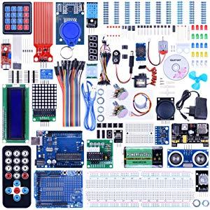 Quimat Kit de Démarrage Ultime Le Plus Complet avec Manuel d'Utilisation Français pour Débutants et Professionnels DIY Compatible avec Arduino IDE