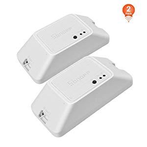 SONOFF Basic R3 Interrupteur Connecté WiFi (2 PCS),Module DIY Universel pour Maison Connectée,Compatible avec Alexa/Google Home/Nest/IFTTT,Contrôle à Distance,Commande Vocale,Soutien Contrôle de LAN