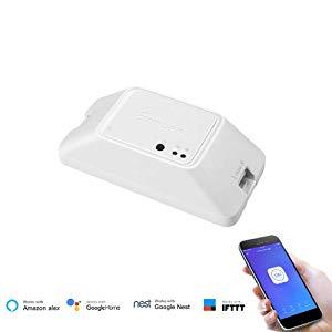 SONOFF Basic R3 Interrupteur Connecté WiFi,Module DIY Universel pour Maison Connectée,Compatible avec Alexa/Google Home/Nest/IFTTT,Contrôle à Distance,Commande Vocale,Soutien Contrôle de LAN