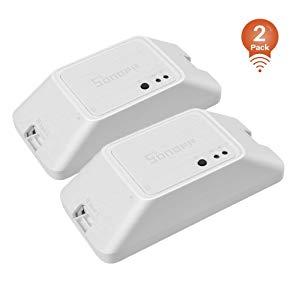 SONOFF Basic RFR3 (2 PCS) Interrupteur Connecté WiFi RF 433MHz Contrôle Commutateur Intelligent,Compatible avec Alexa/Google Home/Nest/IFTTT,Fonction de Minuterie,Soutien Contrôle de LAN