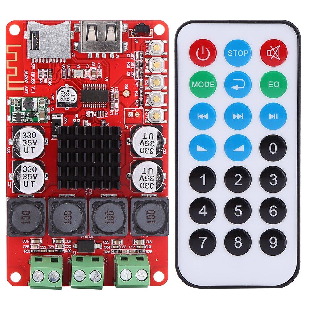TPA3116 50Wx2 Module Carte d'Amplificateur Audio Numérique Stéréo Entrée TF avec Télécommande DC 8V~26V